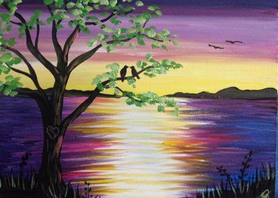 Love Birds on the Lake
